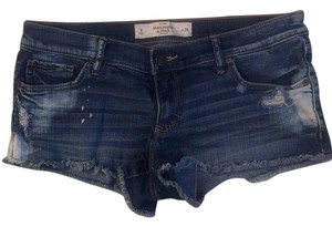 Abercrombie & Fitch Cut Off Shorts Distressed dark