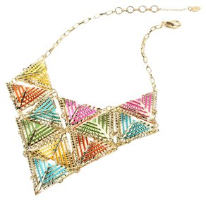 Amrita Singh NIB Amrita Singh Statement Triangle Bib Necklace