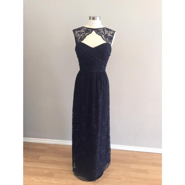 Item - Navy Lace Formal Bridesmaid/Mob Dress Size 10 (M)