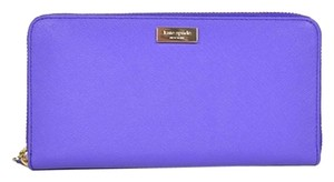 Kate Spade Kate Spade Newbury Lane Neda Aster Purple Saffiano Leather Zip Around Wallet