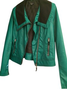 I 'Heart' Ronson Green Leather Jacket