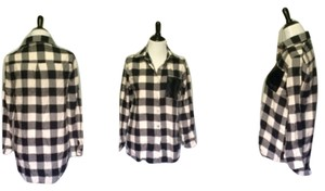 Independent Clothing Co. Button Down Shirt Black & white