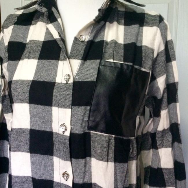 Other Button Down Shirt Black & white Image 2