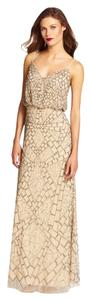 Adrianna Papell Bridsemaid Evening Gown Beaded Dress