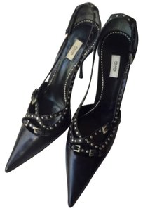 Prada Gucci Black and silver Pumps