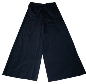 Wrap Singapore Style Relaxed Pants Black