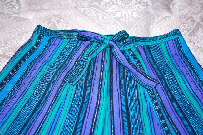 Other Wrap Singapore Style Adjustable Handmade Relaxed Pants Blue, green, purple striped Image 4