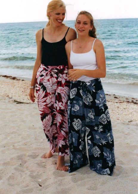 Other Wrap Singapore Style Adjustable Handmade Relaxed Pants Blue, green, purple striped Image 7