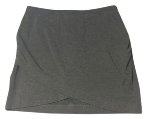 Banana Republic Wrap Grey Knit Skirt