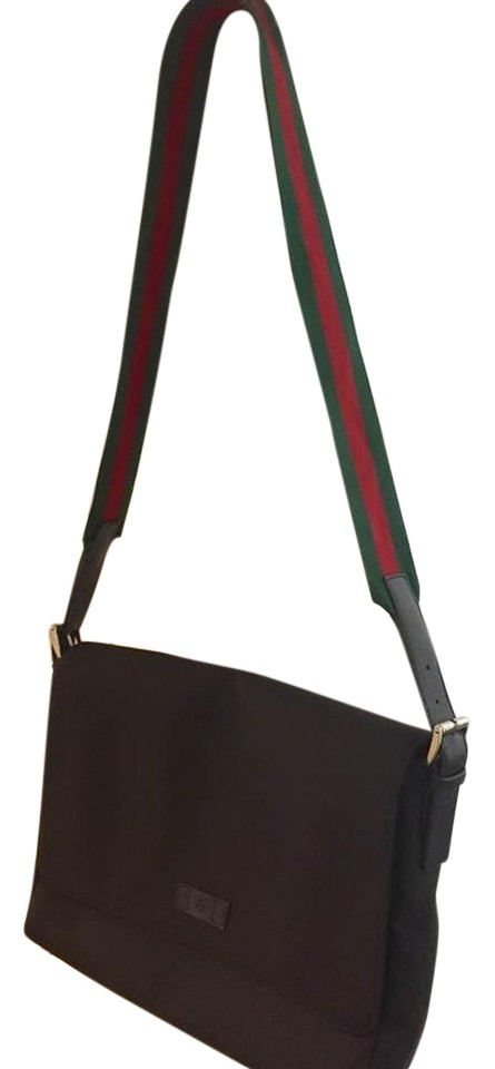 7b71247b2abf Gucci Trademark Magnet Signature Web Detail Techno Canvas Men's Cross Body  Bag Image 0 ...