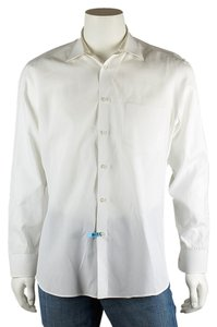 Hugo Boss Men's Cotton Shirt Button Down Shirt White