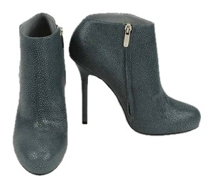 Sergio Rossi Leather Bootie Zinco Gray Boots