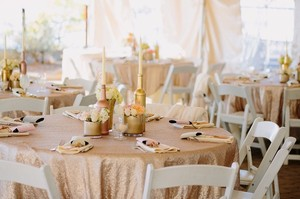 13 Champagne Sequin Table Cloths!!