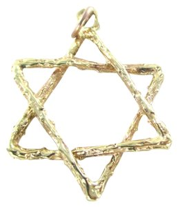 14KT SOLID YELLOW GOLD PENDANT STAR OF DAVID JEWISH JEW 2.0 GRAMS NO SCRAP JEWEL