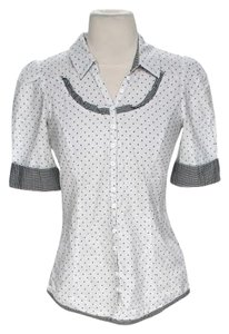 Odille Polka Dot Top Black & White