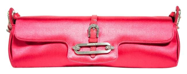 Item - Crystal Pink Satin Clutch