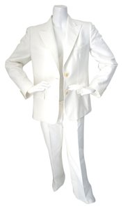Max Mara MAX MARA White Business 3 Piece Cotton Suit Jacket Pant Skirt Size 10/12