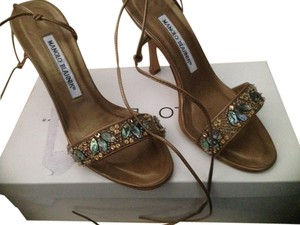 Manolo Blahnik Bronze Sandals