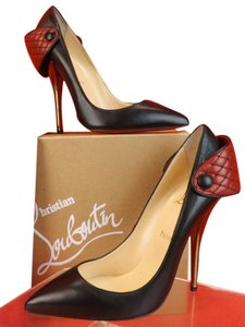 Christian Louboutin Blacks/Bronze/Dark Red Pumps