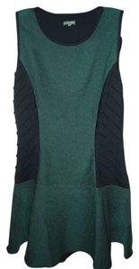 The Letter short dress GREEN AND BLACK Fitted Stretchy on Tradesy