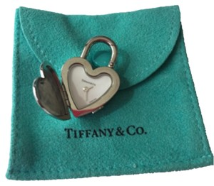 Tiffany & Co. NEW Tiffany Stainless Steel Script Lock Charm POUCH