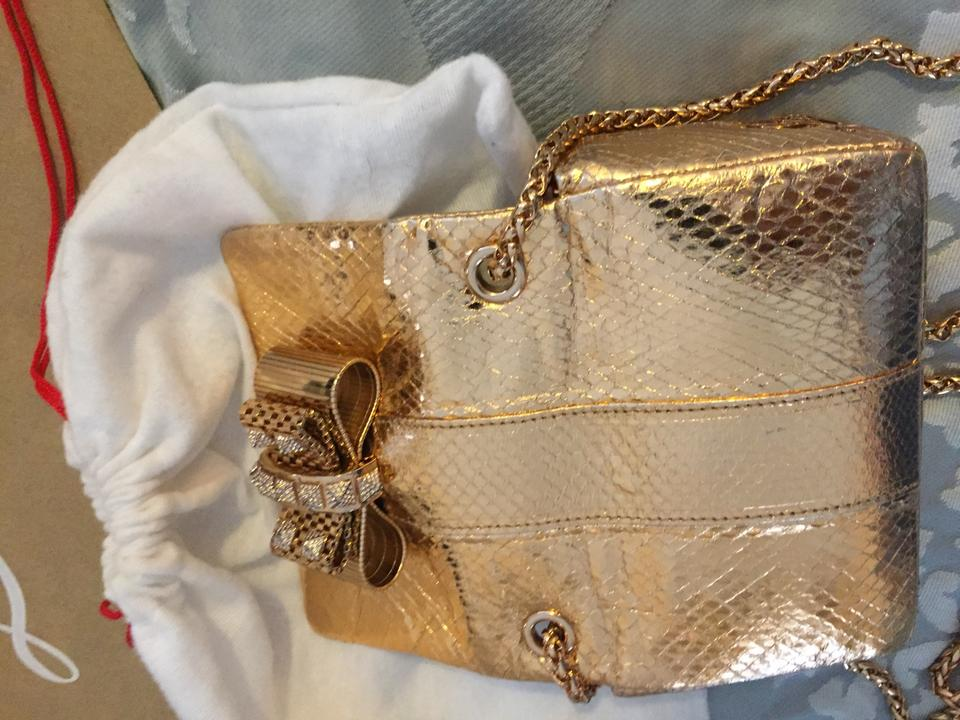 Gold Cross Bag Charity Christian Louboutin Snake Body Small Leather wfwtv
