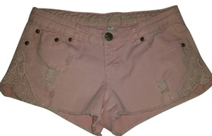 Vanilla Star Cut Off Shorts light pink jean