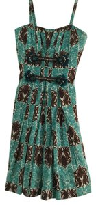 Carolina Herrera Casual Office Work Cocktail Night Out Vacation Beach Beaded Strappy Dress