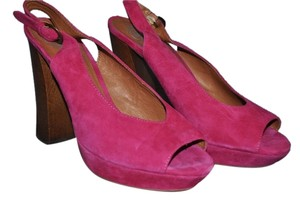 Jeffrey Campbell Suede High Heels Comfortable Fuchsia Pink Pumps