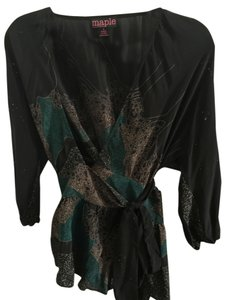 Anthropologie Kimono Boho Hippie Bohemian Top Black, grey, green