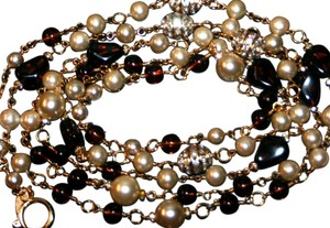 Chanel VINTAGE CHANEL GRIPOIX (Poured Glass) NECKLACE / 75