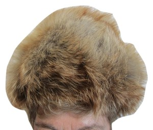 Other Fox Fur Women's Hat from Russia. Tan Size is 22