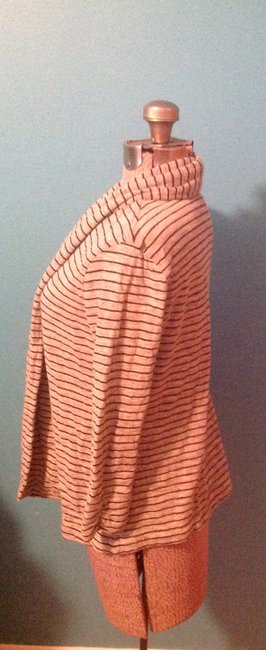 Theory Stripes Soft Cotton Polyester Petite Cardigan Image 2