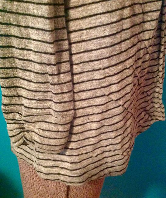 Theory Stripes Soft Cotton Polyester Petite Cardigan Image 5