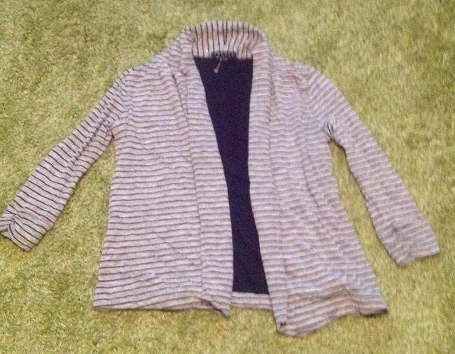 Theory Stripes Soft Cotton Polyester Petite Cardigan Image 6