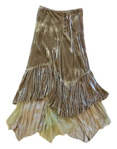 Kadra Paris Bohemian Maxi Skirt Gold