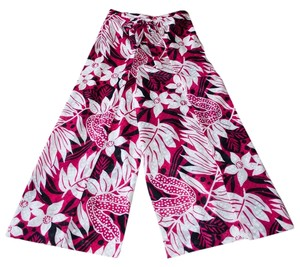 Handmade In Usa Wrap Relaxed Pants Red, Black, Pink, White