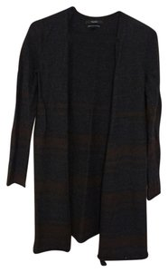 Tahari Wool Cardigan Striped Long Sweater