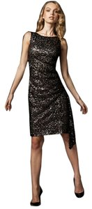 David Meister Sequin Gold Dress