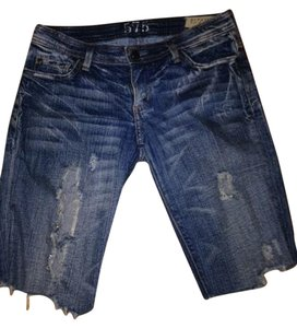 555 Denim Shorts-Medium Wash