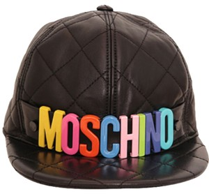 Moschino Logo Quilted Leather