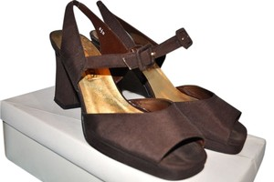 Caparros Sandal Hidden Ankle Strap Square Toe Evening Out Date Night Vintage Strappy Brown Chocolate Espresso Peep Toe Brown Espresso Platforms