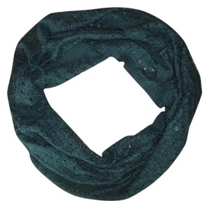 H&M Dark Green Knit Sweater Infinity Scarf