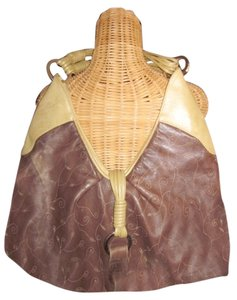 Susan Farber Collections Leather Soft Gold Buckle Hobo Bag