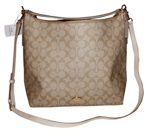 Coach Khak Canvas 34910 Hobo Bag