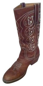 Nicole Cowboy Leather Boot Brown Boots