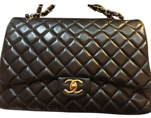 Authentic Chanel double flap quited Maxi in lambskin shoulder Shoulder Bag