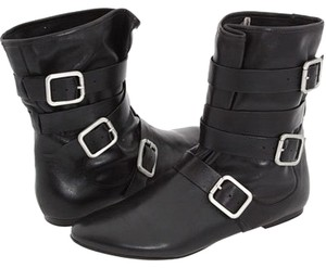 Belle by Sigerson Morrison Leather Flat Black Boots