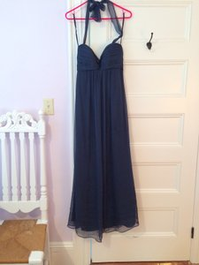 Amsale French Blue Chiffon Style Number G426c Halter Gown Formal Bridesmaid/Mob Dress Size 2 (XS)