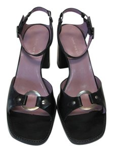 Nine West Leather Good Condiiton 10.00 M Black Sandals